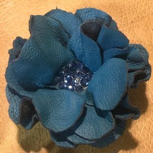 Accessories - Handmade leather brooch or hair accessory new!